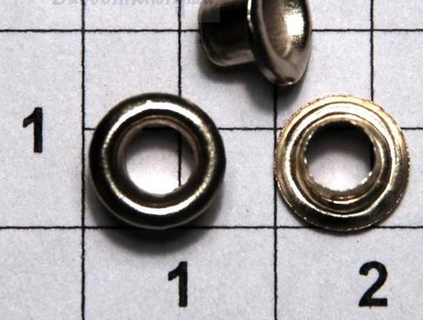 Люверс блочка №1 с кольцом 5000 шт диаметр шнура 3.5 мм