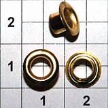 Люверс блочка №2 - 4 мм с шайбой 100 шт в упаковке, фото 2