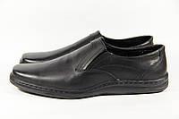 Туфли мужские из натуральной кожи на резинке WAL 18 Black
