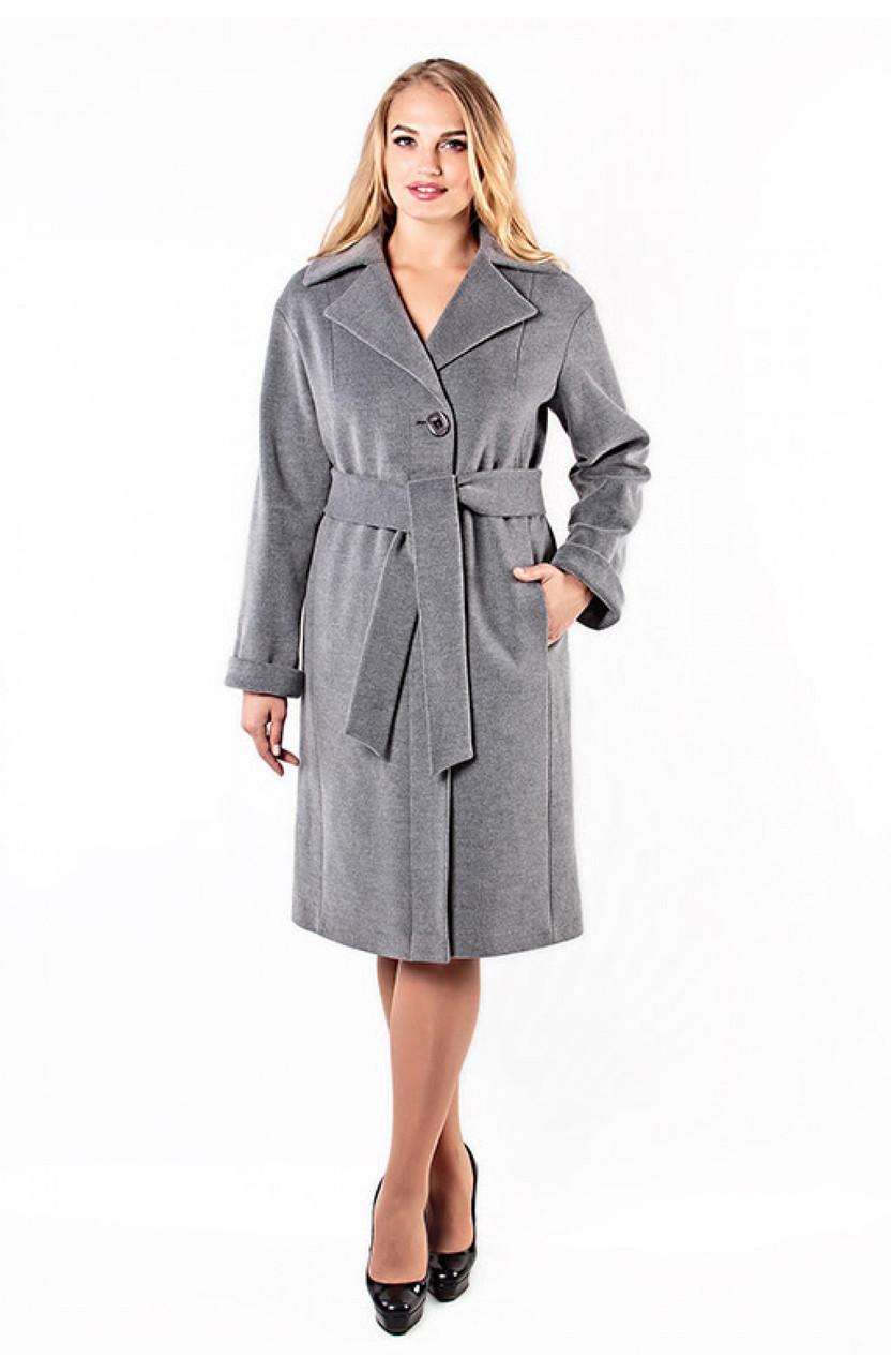 Пальто женское демисезонное Almatti модель D-246 серый меланж