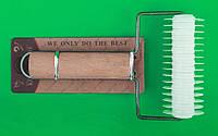 Валик для нарезки теста сеткой с деревянной ручкой