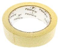 Стрічка малярна, 30 мм x 40 ярдів, жовта Topex 23B203