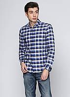 Рубашка мужская ZARA цвет сине-белый размер М арт 0073/245/400