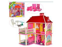 Кукольный домик с мебелью, 2-ва этажа и 5-ть комнат