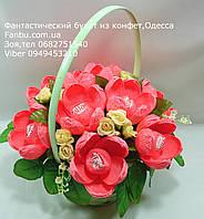 """Корзина крокусов из конфет""""Мелодия""""№9, фото 1"""