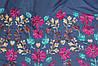 Ткань джинс летний(цветная вышивка)  купон односторонний №3