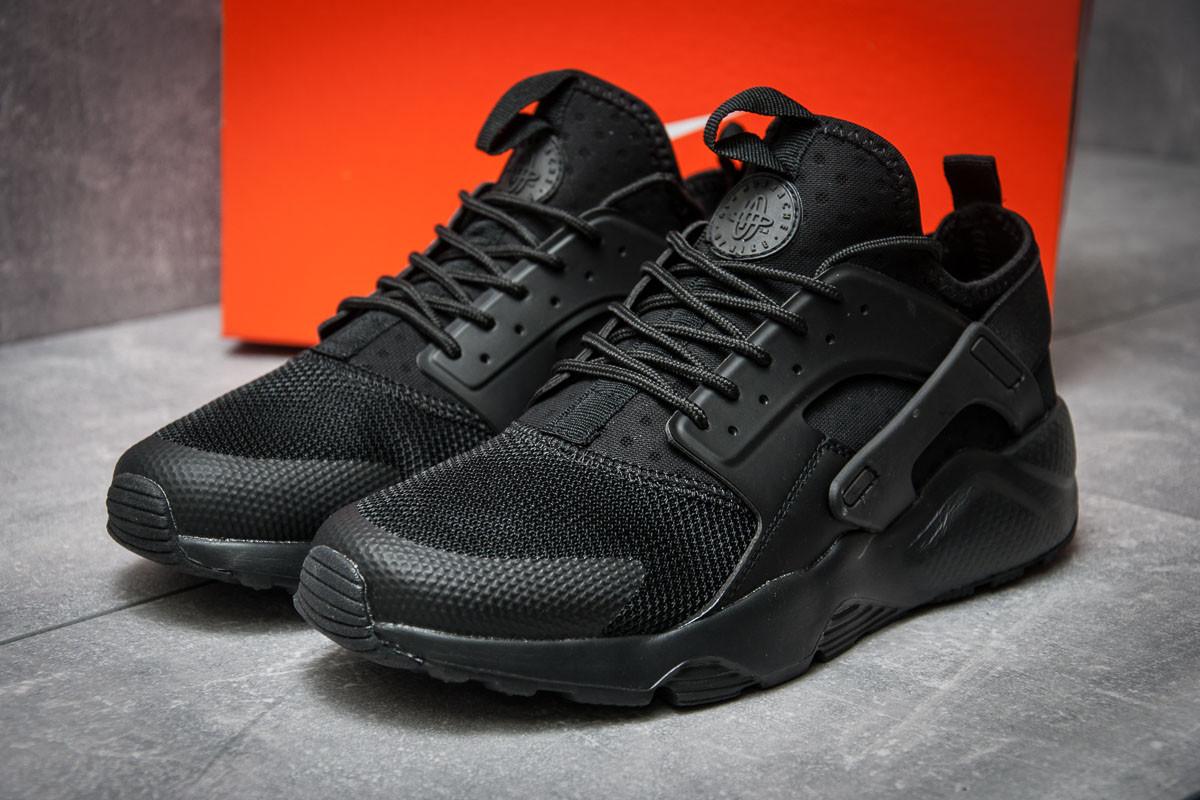 Кроссовки мужские в стиле Nike  Air Huarache Run Ultra, черные (11823)