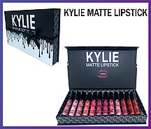 Набор матовых помад Kylie Matte Lipstick Black 12 шт.