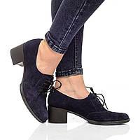 Туфли на каблуке из натуральной кожи, на шнурках. Четыре цвета! Размеры 36-41, модель S1403