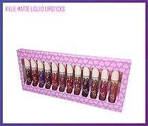 Набор матовых помад Kylie Matte Liquid Lipstick 12 шт. (Сердечки)