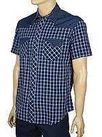 Турецкая мужская рубашка Cordial C01841 в синем оттенке