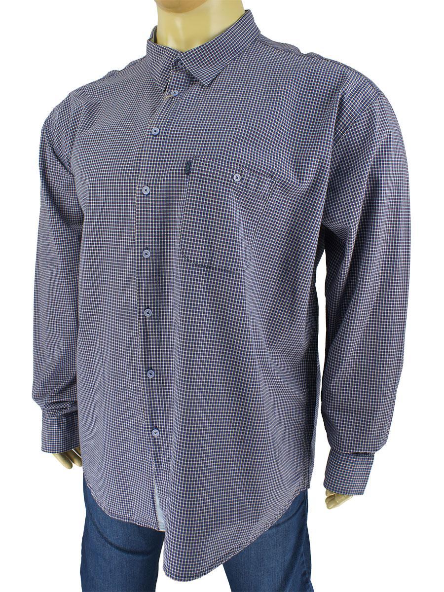 Рубашка мужская Tonelli 0660 B indigo большого размера