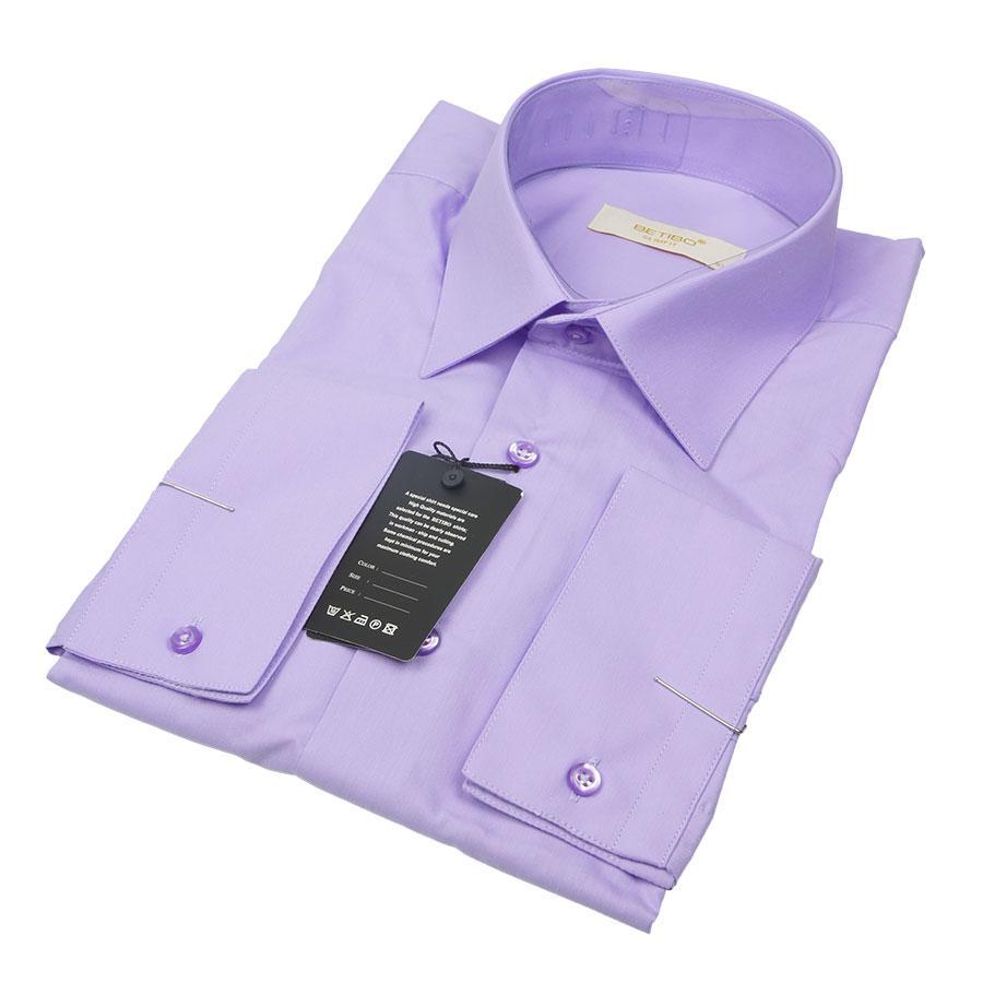 Светло-сиреневая мужская приталенная рубашка Negredo 31021 Slim