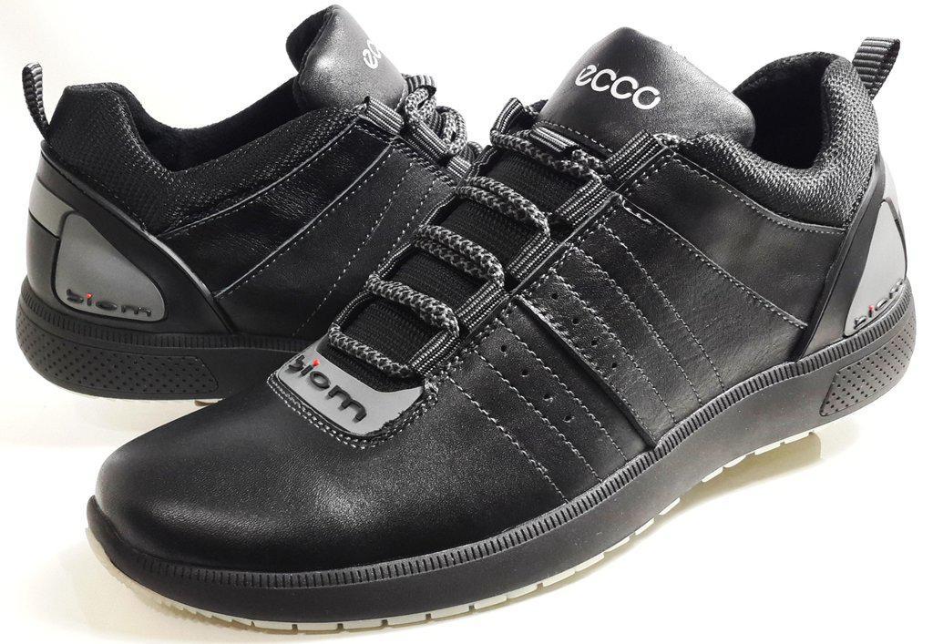 Мужские Кожаные Кроссовки Ecco Biom Comfort - Black,черные — в ... beacdfbc768