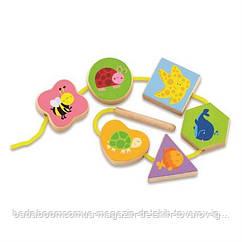 """Шнуровка Viga Toys """"В мире животных"""" (50156VG)"""