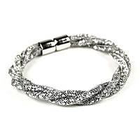Серебристый браслет, наполненный кристаллами Swarovski