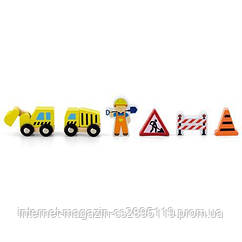 """Доп. набор к ж/д Viga Toys """"Строители"""" (50813)"""