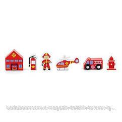 """Доп. набор к ж/д Viga Toys """"Пожарная станция"""" (50815)"""