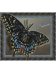 Набор для вышивки бисером Бабочка Черный Махаон