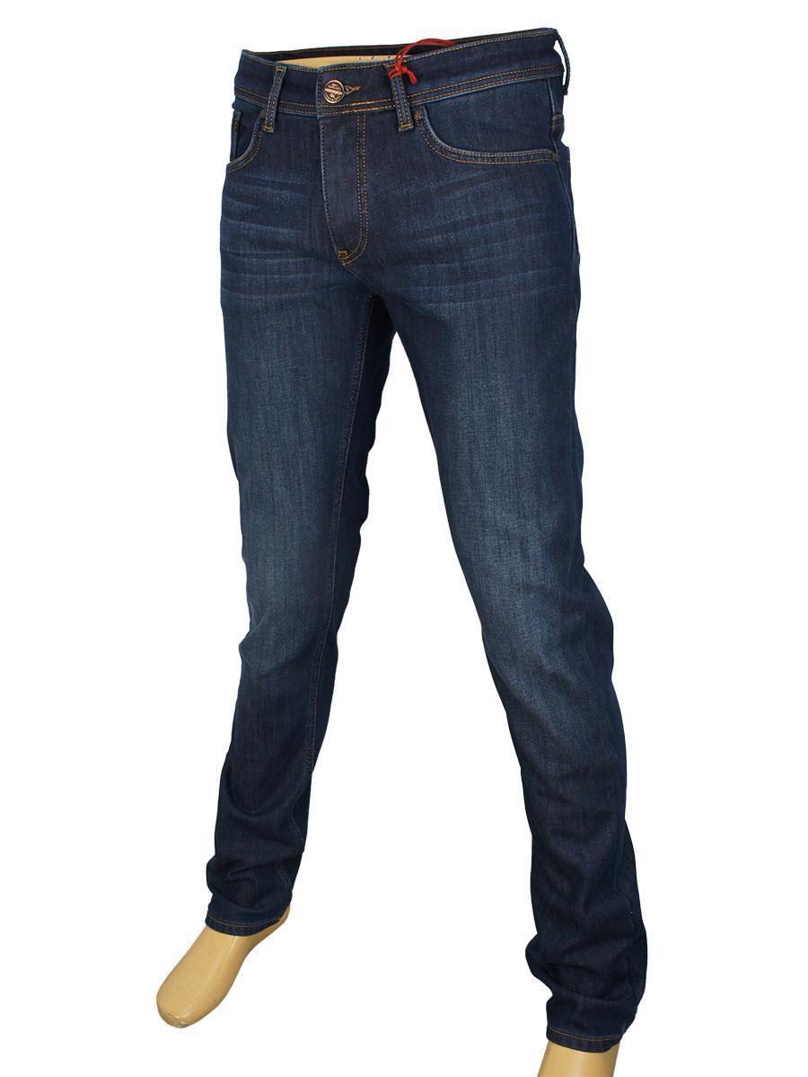 fd08722a930 Утепленные мужские джинсы X-Foot 261-2269 Blue фліс для настоящих ...