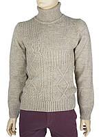 Зимний мужской свитер Bagutta 1456 в бежевом цвете