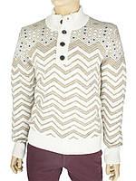 Стильный мужской зимний свитер Bagutta 1430 в светлом тоне