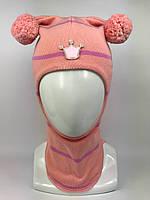 Весенняя шапка-шлем для девочки 1526-21