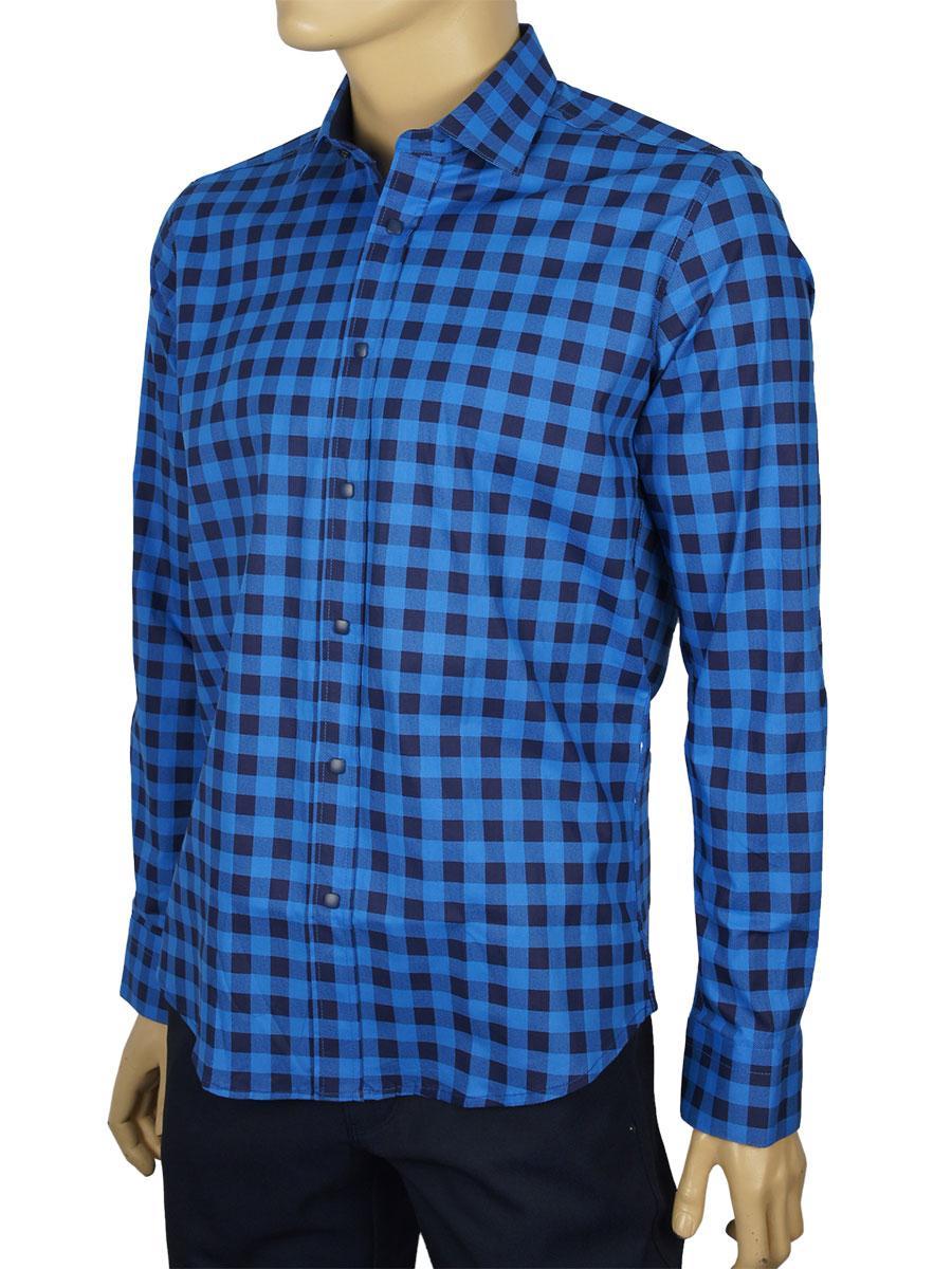 Стильная мужская рубашка Negredo Art.9070 slim разных цветов