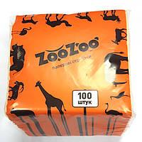 Салфетки бумажные 100шт. оранжевые