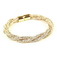 Золотистый браслет, наполненный кристаллами Swarovski