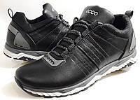 Мужские кожаные кроссовки Ecco biom ,черные, фото 1