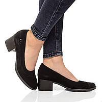 Туфли на каблуках из натуральной кожи, без застежки. Два цвета! Размеры 36-41, модель S1404