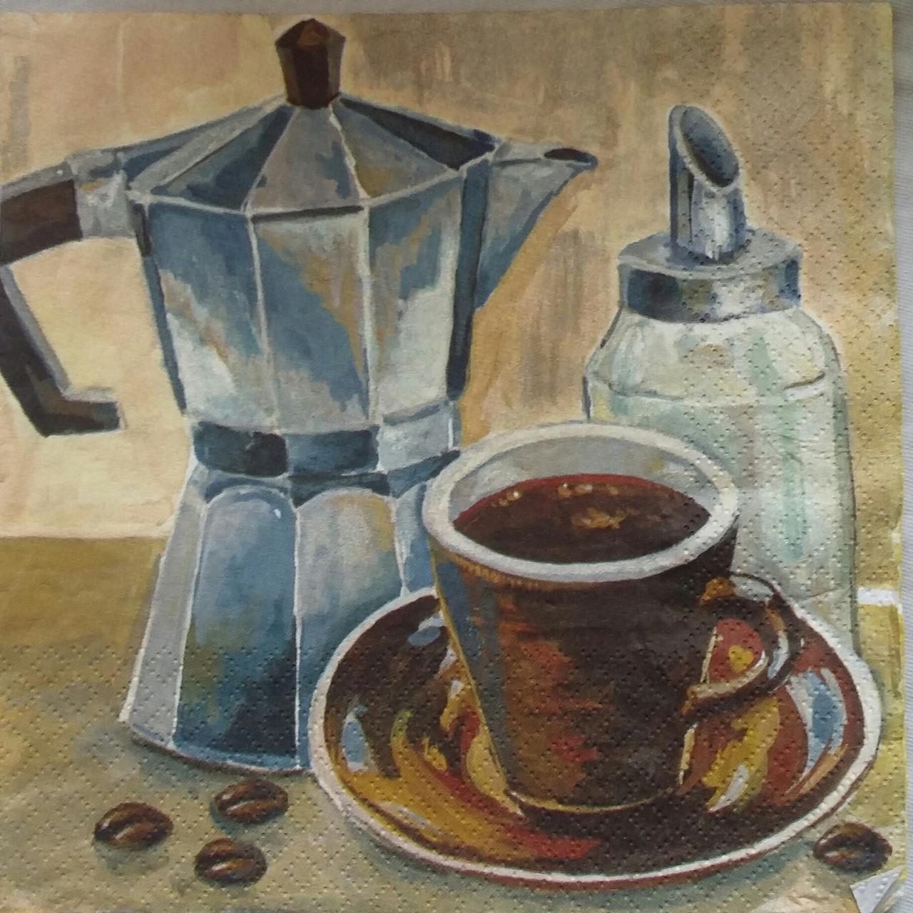 "Салфетка для декупажа  ""Кофе подано!"", 33х33 см, 8"