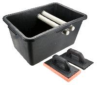 Набір: відро  40 л., тертка з гумовим покриттям, тертка з м'ягкою губкою Topex 13A339
