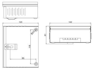 Влагозащищенный всепогодный блок питания JLV-12060KB 12 Вольт 60W 5А IP54, фото 2