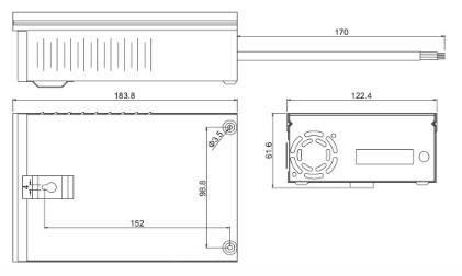Влагозащищенный всепогодный блок питания JLV-120120KB 12 Вольт 120W 10А IP54, фото 2