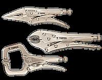 Кліщі затискні набір 3 шт. Topex 32D470