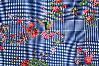 Ткань супер софт клетка №6 колибри, фото 1