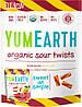 Жевательные органические конфеты - Арбуз\лимонад sour twists (Yum Earth).