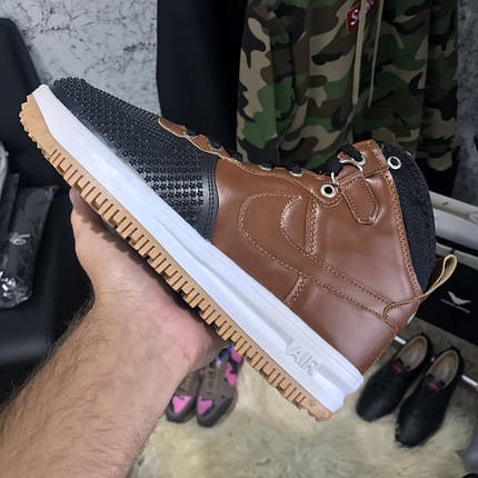 Мужские кроссовки Nike Lunar Force 1 Duckboot Brown, реплика, супер качество!, фото 2