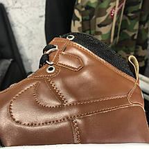 Мужские кроссовки Nike Lunar Force 1 Duckboot Brown, реплика, супер качество!, фото 3