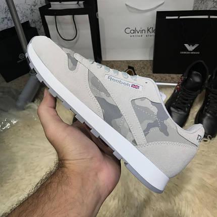 Мужские кроссовки Reebok Classic Camo/Gray, реплика, супер качество!, фото 2