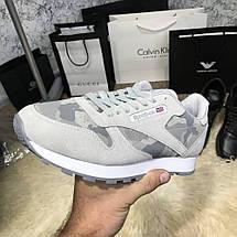 Мужские кроссовки Reebok Classic Camo/Gray, реплика, супер качество!, фото 3