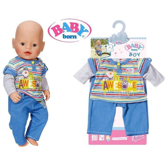 Одежда для куклы 43 см Baby Born костюм для мальчика Zapf Creation 822197A
