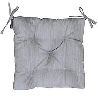 Подушка на стул Прованс 40х40см Лонета Серая (Распродажа)