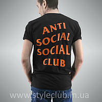 Футболка ASSC Undefeated Paranoid. Бирка Anti Social Social Club качественная реплика