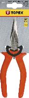 Плоскогубці подовжені прямі, 160 мм, (1000 В) Topex 32D513