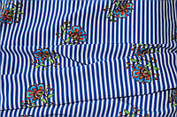 Ткань супер софт полоса №8 сказочный рисунок-имитация вышивки, фото 1