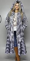 Купить искусственную шубу недорого в Киеве М101 серый леопард