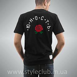Футболка Юность Розы   Живые фото   Черная мужская